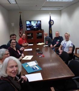 Nancy Sullivan and Betsy Zucker, NFSP Board Members, meeting with Earl Blumenauer's staff and HCAO activists, Feb 22, 2017